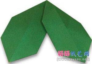 冬青树叶折纸教程图解-简单儿童折纸教程