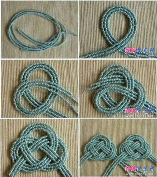 时尚小珠珠串珠耳环手工制作详细图片步骤