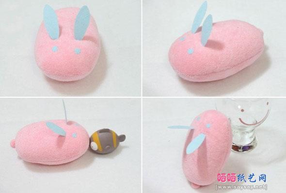 DIY可爱小兔鼠标手枕制作成品图