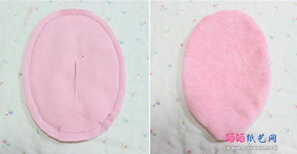 DIY可爱小兔鼠标手枕的方法教程图片步骤5
