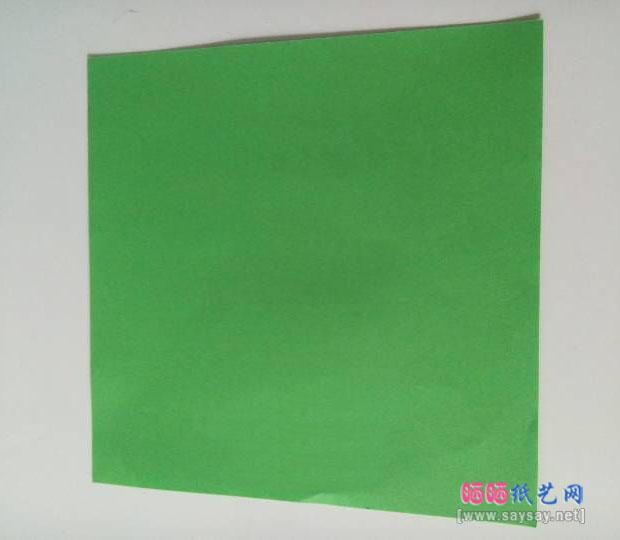 简单立体雪花剪纸教程图片步骤1