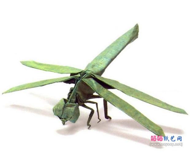 神谷哲史蜻蜓CP折纸教程完成效果图