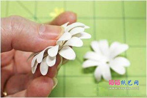 素雅小白花手工制作教程 纸花折纸大全